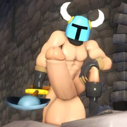 3d balls big_balls big_penis erection gay headgear helmet huge_balls huge_cock hyper hyper_balls hyper_penis kayakazan_(artist) muscles nude outside penis pose pyro shovel_knight shovel_knight_(character) source_filmmaker team_fortress team_fortress_2 weapon