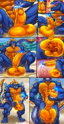 2018 4_toes 5_fingers abs anthro anthro_on_anthro balls beach big_balls big_penis blue_hair blue_nose blue_penis blue_skin blush canine closed_eyes cock_vore cum cum_drip cumshot darkstalkers digitigrade dripping duo ejaculation erection fish fist forced glowing glowing_penis grin grindzy hair hand_on_balls hand_on_penis heart horn humanoid_penis hungothenomster imminent_vore inside_balls jon_talbain looking_pleasured lying macro male male/male mammal mane marine masturbation micro monster multicolored_hair multicolored_skin muscular muscular_male nipples nude orange_penis orange_skin orgasm penile_masturbation penis precum sea seaside sharp_teeth sitting size_difference smile solo spikes standing teeth toes tongue tongue_out translucent_skin two_tone_hair two_tone_skin uncut vein video_games vore water white_hair white_skin wolf