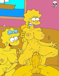 bart_simpson female human lisa_simpson maggie_simpson male straight the_fear the_simpsons