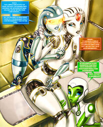 2013 alien ass aya big_breasts breasts crossover dc dc_comics edi female green_lantern green_lantern_(series) group group_sex liquidmark liquidmark_(artist) mass_effect mass_effect_3 not_furry open_mouth pussy sex silica_(starchaser:_the_legend_of_orin) starchaser:_the_legend_of_orin threesome tongue video_games