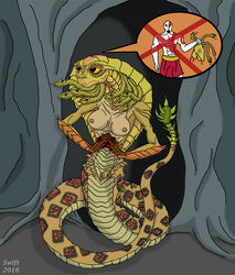 breasts cobra female god_of_war gorgon gorgon_cobra hi_res kratos nipples nude pussy reptile scalie snake snake_hair solo swift