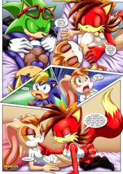 3girls anthro fiona_fox hunting_for_milfs mobius_unleashed scourge_the_hedgehog tagme vanilla_the_rabbit video_games