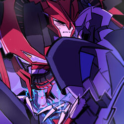 better_version_at_source blush claws closed_eyes cowgirl_position cum cum_inside decepticon duo erection humanoid humanoid_penis knock_out_(transformer) low_res machine male moraehosu not_furry on_top penetration penis robot sex simple_background starscream transformers transformers_prime yaoi