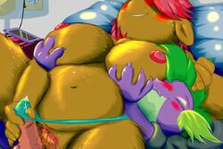 aged_up babs_seed_(mlp) belly big_breasts blush breasts clothed clothed_sex clothing cum_through_clothing dragon equine erection female female_on_top fondling freckles friendship_is_magic frist44 grope holding_breast hotel_room interspecies inverted_nipples male mammal my_little_pony nipples on_top panties penis pubes pussy sex size_difference slightly_chubby smaller_male spike_(mlp) tenting underwear