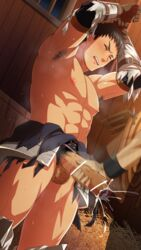 2boys abs armor armpit arms_above_head barn big_penis blush body_hair bound_legs bound_wrists boy_rape brown_hair cum cum_in_penis docking ejaculation erection foreskin frottage gloves handjob hay hihumi huge_cock image_set looking_pleasured male_focus male_only malesub multiple_boys muscle nipples orgasm pecs penis penis_grab pubic_hair restrained rope solo_focus standing steam sweat tagme testicles torn_clothes yaoi