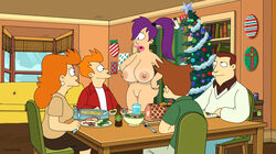 big_breasts breasts chainmale futurama huge_breasts nipples philip_j_fry pussy turanga_leela