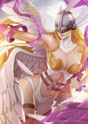1girl angewomon artist_request breasts digimon female female_only solo