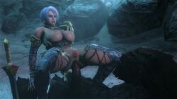 3d anal anal_sex animated breasts cowgirl_position female isabella_valentine large_breasts male monster namco nipples noname55 penetration penis pov pussy sex short_hair soul_calibur sound source_filmmaker webm white_hair