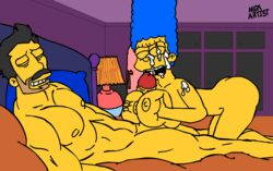 animated big_breasts big_penis breasts cheating fellation female huge_breasts male marge_simpson milf nickartist nipples penis sex straight the_simpsons