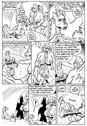 ! 2018 anthro areola bessy big_breasts black_and_white breasts cave claws comic dialogue digital_media_(artwork) dragon english_text equine fangs female food group gustav_(here_there_be_dragons) hair here_there_be_dragons horn horse huge_breasts karno larger_female male mammal monochrome nipples nude olga open_mouth pussy scalie simple_background size_difference skinny smaller_male teeth text white_background wings zashy