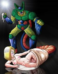 android_18 c18 cell dragon_ball_z dragonball girl hentai juice nude open_legs pussy pussy_juice uncensored
