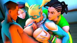 3d animated batesz cammy_white fellatio laura_matsuda no_sound oral paizuri rainbow_mika scout source_filmmaker street_fighter street_fighter_v team_fortress team_fortress_2 webm