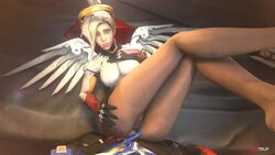 3d anal animated anus blonde_hair bodysuit bouncing_breasts breasts erection female fugtrup long_hair looking_at_viewer male mercy no_sound overwatch penetration penis pov pussy soldier_76 source_filmmaker straight video_games webm wings