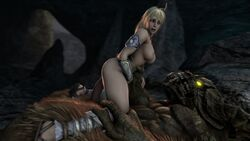 3d ambiguous_penetration animated areola armor blonde_hair bouncing_breasts braid breasts cowgirl_position dark_souls darsovin erection female glowing_eyes hanging_breasts interspecies larger_male long_hair minotaur necklace nipples nude open_mouth pauldron penetration ponytail sandals sex sophitia_alexandra soul_calibur source_filmmaker straight taurus_demon teeth vambrace webm yellow_eyes