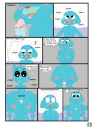 breasts cartoon_network comic english_text fellatio female gumball_watterson male nicole_watterson nipples nude oral penis sex text the_amazing_world_of_gumball