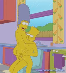 animated bart_simpson breasts incest marge_simpson milf mother sfan son the_simpsons webm