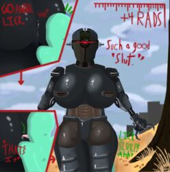 ! 1boy 1girl ? anal anilingus anon anus ass assaultron big_ass big_breasts breasts building claws close-up cloud comic depth_of_field desert detailed_background dialogue dominant english_text fallout featureless_crotch female femdom grass heart huge_ass huge_breasts humanoid imminent_sex looking_at_viewer machine male mature_female nude one-eyed options oral radiation red_eyes rimjob robot rock rust seductive sex shadow shiny signature size_difference skunk_bunk sky sound_effects standing straight suggestive talking_to_viewer technophilia text tongue tree wasteland wide_hips