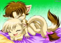 angel_(little_tails) annie_(little_tails) bbmbbf brother_and_sister feline female furry little_tails palcomix sex tagme