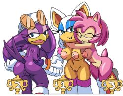 amy_rose anthro areola ass avian bat big_breasts bird breasts coolblue erect_nipples female group hedgehog mammal nipples nude pussy rouge_the_bat sonic_(series) sonic_riders swallow_(bird) wave_the_swallow
