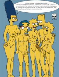 2boys 3girls age_difference areola armpit aroused bart_simpson brother_and_sister edit female hips huge_nipples huge_penis huge_testicles hyper hyper_penis imminent_sex incest large_breasts large_penis licking_lips lisa_simpson lowres maggie_simpson male marge_simpson milf milhouse_van_houten muscle_tone nipples penis penis_grab perky_breasts pussy ragetheripper sagging_breasts the_fear the_simpsons