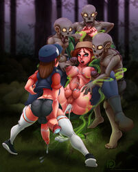 3boys areolae balls big_breasts blue_eyes breasts cum cum_in_ass cum_inside cum_on_breasts cumshot dickgirl dipper_pines erection futa_on_futa futanari futanarization gravity_falls intersex large_breasts male_on_futa mutantproject nipples open_mouth penis rule_63 spread_legs testicles wendy_corduroy zombie