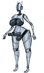 1girl ass assaultron big_ass big_breasts big_penis big_testicles breasts dickgirl erection fallout fallout_4 female humanoid_penis intersex machine navel not_furry nude penis robot solo technophilia testicles thick_thighs toxicempress3 wide_hips