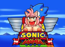 amy_rose big_breasts breasts cloudz dreamcastzx1 female hedgehogs huge_breasts male parody sonic_(series) sonic_mania sonic_the_hedgehog