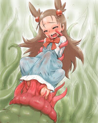 1girl female human hun jasmine_(pokemon) pokemon tentacle tentacle_rape vore