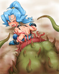 blue_hair hun ibuki_(pokemon) pokemon ponytail tagme tentacle vore