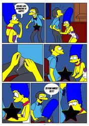 marge_simpson moe_szyslak the_simpsons