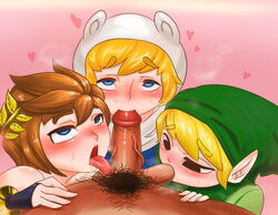 adventure_time crossover e-sac femboy finn_the_human girly kid_icarus legend_of_zelda_link pit