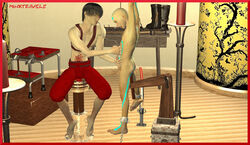 aang avatar_the_last_airbender barefoot bondage cbt male male_only minxtravels sounding yaoi zuko