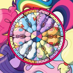 2016 animal_genitalia anus applejack_(mlp) ass cutie_mark earth_pony equine female fluttershy_(mlp) friendship_is_magic horse mammal my_little_pony pinkie_pie_(mlp) pony puffy_anus pussy rainbow_dash_(mlp) rarity_(mlp) squirrelpony twilight_sparkle_(mlp)