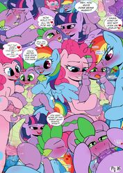 2016 alicorn ambiguous_fluids anal anal_sex animal_genitalia animal_penis ass blush cum cum_in_ass cum_in_mouth cum_inside cum_on_penis cutie_mark dickgirl dickgirl/male double_penetration dragon earth_pony english_text equine equine_penis erection feathered_wings feathers fellatio female feral friendship_is_magic fur group group_sex hair hooves horn horse inflation intersex intersex/male kissing kyokimute male mammal multicolored_hair my_little_pony oral orgy penetration penis pinkie_pie_(mlp) pony purple_eyes purple_fur purple_hair rainbow_dash_(mlp) saliva saliva_string sex smile spike_(mlp) text twilight_sparkle_(mlp) unicorn wings