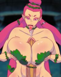acid_demo autofellatio autopaizuri big_breasts breasts fellatio futanari great_fairy nintendo ocarina_of_time paizuri the_legend_of_zelda