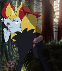 1boy ahe_gao anal animated braixen female pokemon pokemon_(game) shadman tongue_out zoophilia