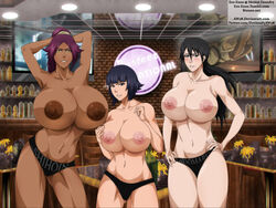 bleach ero-enzo female femsub huge_ass huge_breasts lisa_yadomaru naked presenting shihouin_yoruichi slave soi_fon submission voluptuous