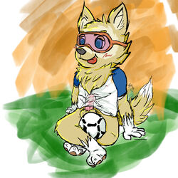 anthro ball fur invalid_tag male nipples paws penis t-shirt-meme tongue yaoi zabivaka