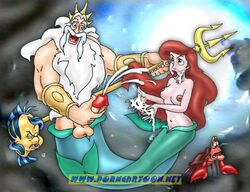 flounder_fish king_triton little_mermaid princess_ariel sebastian_crab