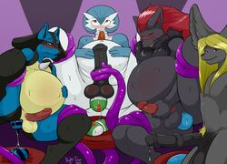2015 3boys 5_fingers alternate_color anal animal_genitalia animal_penis anthro anthrofied anus ass belly big_belly big_ears birth black_fur black_penis blonde_hair blue_fur blue_skin blush bulge canine closed_eyes drooling egg equine_penis erection fox fur furry gardevoir grey_fur group hair hand_on_penis hand_on_stomach handjob horn humanoid humanoid_penis long_hair looking_at_viewer looking_up lucario male male_only male_pregnancy mammal masturbation medial_ring navel nightfaux nintendo nude open_mouth oviposition penile_masturbation penis poke_ball pokemon pokemorph precum pregnant pubic_hair purple_eyes red_eyes red_hair rule_63 saliva sex shiny_pokemon smile spread_legs spreading stretched_anus stripes sweat teeth tentacle tentacle_job tentacle_sex testicles tongue video_games wet white_skin yellow_fur zoroark