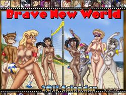 2016 anthro areola armband armpits arms_above_head ass beach bear black_hair blonde_hair blue_eyes bracelet breasts brown_eyes brown_fur brown_nipples canine casual_nudity chest_tuft ear_piercing eyewear female fur furry glasses grey_fur grey_nipples group holding_ball holding_object horn human jewelry long_hair looking_at_viewer looking_back mammal multicolored_hair navel nipples nude outdoors piercing pronghorn pubic_hair pussy rat rear_view rodent seaside short_hair small_breasts smile sport style_wager sunglasses suntan tan_line tied_hair tuft twintails v volleyball volleyball_(ball) volleyball_net watch