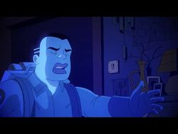 1girl 2boys after_sex animated bed breasts butt clothes dialogue extreme_ghostbusters ghost ghostbusters hat interrupted penis sound tagme tears webm zone