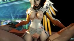 3d amazon_position animated areolae blonde_hair bouncing_breasts breasts erection female male mercy nipples no_sound overwatch penis pov pussy sex sfmfuntime source_filmmaker straight vaginal_penetration