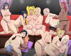 anal blonde_hair cum cum_in_pussy dark-skinned_female dark_skin dildo doggy_style double-ended_dildo double_penetration futanari hyuuga_hinata incest ino_yamanaka interracial karui large_breasts naruko naruto no_balls orgy pregnant sakura_haruno strapon studio_oppai temari tenten tsunade uchiha_sarada uzumaki_himawari uzumaki_naruto vaginal_penetration yuri