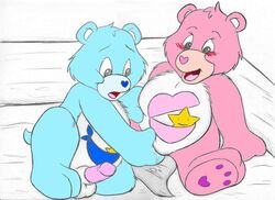 bear blue_fur care_bears hugs incest pink_fur puppyfluff tagme tugs