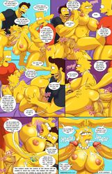 anal arabatos big_breasts breasts cumshot double_penetration lisa_simpson the_simpsons