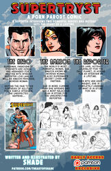1boy 2girls ass black_hair blue_eyes bodysuit bracelet breasts cape clark_kent cleavage comic cover covered_breasts dc dc_comics diana_prince english_text female high_heels hips justice_league kal-el large_breasts legs lois_lane long_hair male multiple_girls panties shoes short_hair side_boob sideboob skirt superman superman_(series) text thighs thong tiara wonder_woman wonder_woman_(series)