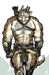 anthro aokmaidu balls feline khajiit male mammal muscular penis the_elder_scrolls video_games