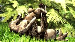 2017 2girls 3d 5_fingers absurdres animated areolae argonian big_breasts breasts claws crossover deathclaw fallout female grass hands highres horns humanoid large_breasts lizard multiple_girls nipples no_sound open_mouth scales scalie scrungusbungus skyrim source_filmmaker stomach tail the_elder_scrolls tongue tree webm yuri