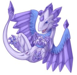blue_eyes claws crystal crystals dragon dragon_tail eyelashes female flashwing_(skylanders) happy legs_up lizard lying nude presenting purple_pussy pussy reptile scalie simple_background skylanders smile solo unknown_artist wing_boner wings